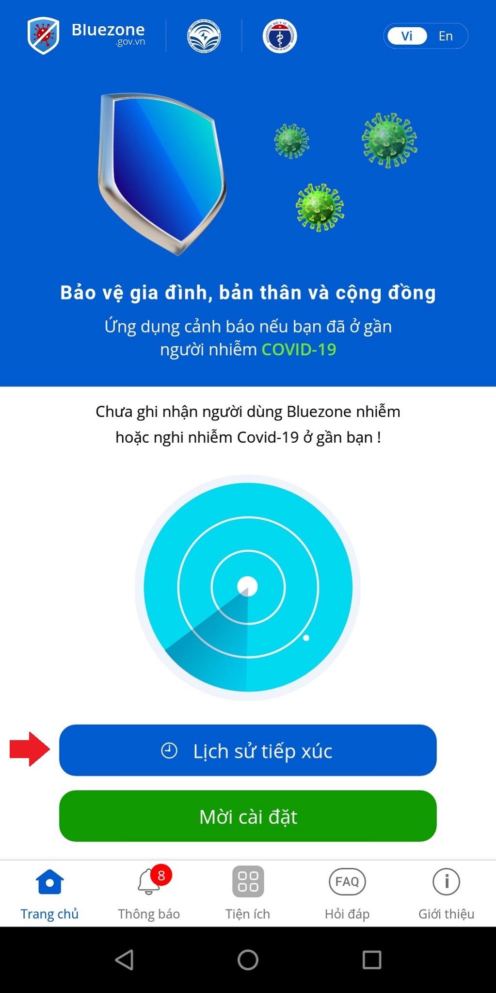 Hướng dẫn sử dụng Bluezone