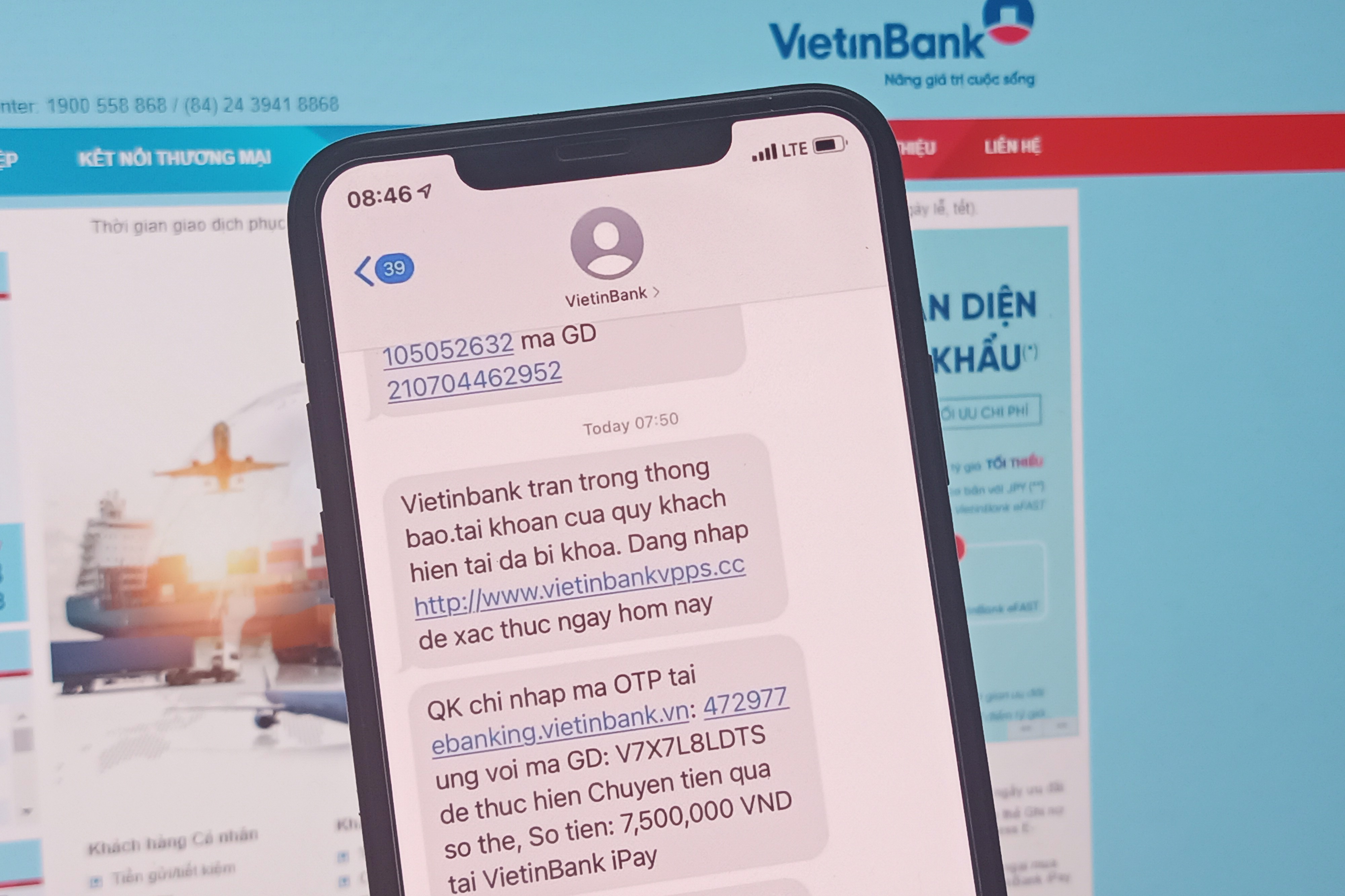 Thêm một người dùng Vietinbank bị lừa mất 7,5 triệu đồng
